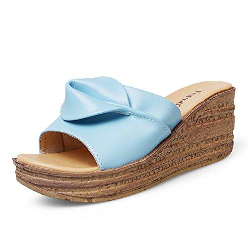 Fleurs et confortables chaussures femme/Lady slipper/Natalie Choquette avec sandales et pantoufles/ à la mode épaisse semelle extérieure chaussure C