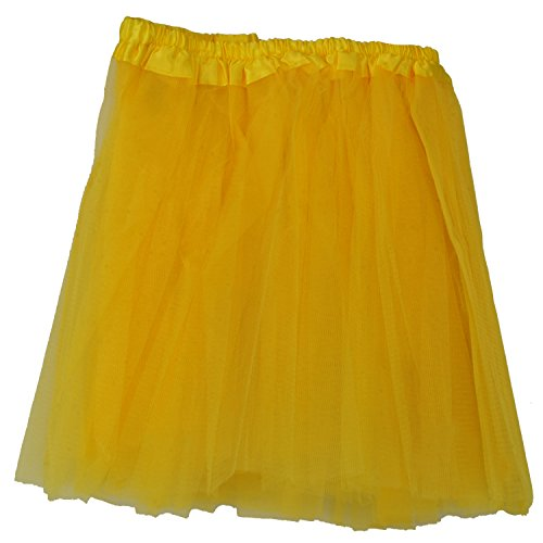 24X7Emall Girls Mini Skirt For Ballet Dance Photography Prop Costume Outfit Party Dancewear (23Cm Length ~ 23-43 Cm Waist- Yellow )  available at amazon for Rs.298