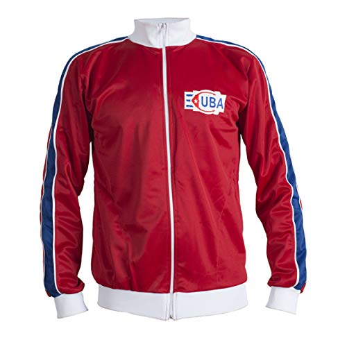 JL Sport Kuba 1980 Retro Fußball Vintage Jacke Anzug Zip Pullover Herren - L (Fußball-shorts Kuba)