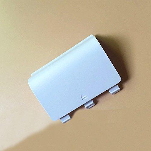 Haodasi White remplacement Porte batterie Housse arrière Battery Door Case Cover pour Microsoft Xbox One S Controller