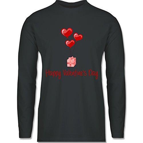 Valentinstag - Happy Valentine's Day Geschenk Herz Luftballon - Longsleeve / langärmeliges T-Shirt für Herren Anthrazit