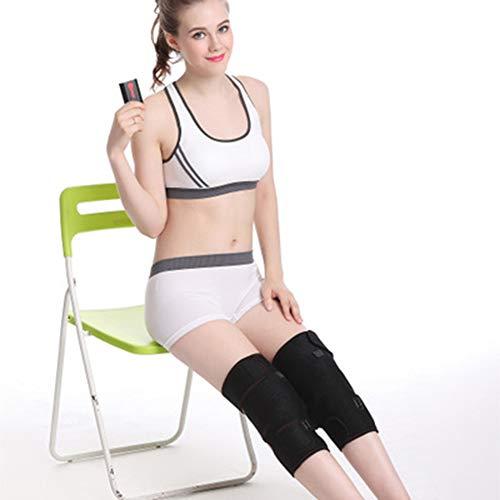 Riscaldato e massaggio di vibrazione ginocchiera wrap, terzo di regolazione del cambio, fit uomini e donne, portatile con batterie interne (una coppia)