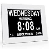 """Unforgettable 2-in-1 Calendar & Day Clock with 7"""" Display - Brand New Digital"""