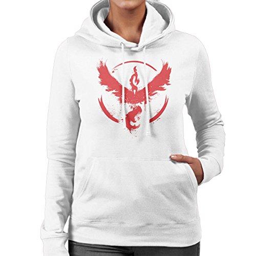 Pokemon Team Valor Women's Hooded Sweatshirt White