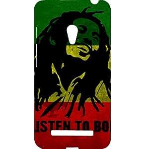 Casotec Bob Marley Flag Smile Design Hard Back Case Cover for Asus Zenfone 5