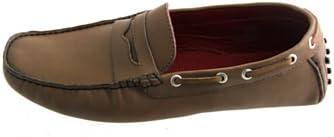 Pierre Cardin - Mocasines de Piel para hombre marrón marrón tabaco