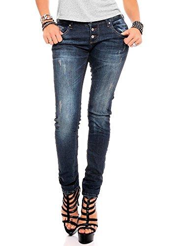 M.O.D. Damen Jeans Ulla - Slim Fit - Blau - Strong Blue, Größe:W 26 L 32;Farbe:Strong Blue (1859)