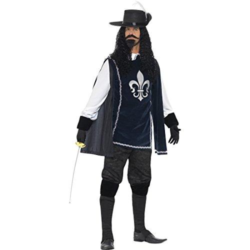 3 Kostüme Musketiere Die (D'Artagnan Herrenkostüm Musketier Kostüm L 52/54 Die Drei Musketiere Mittelalterkostüm Königliche Garde Verkleidung Renaissance Infanterie Karnevalskostüm)
