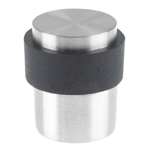 Swish - fermaporta da pavimento in acciaio inossidabile satinato, 41 mm, elementi di fissaggio inclusi
