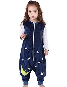 [Patrocinado]MICHLEY Bebé Dormir Franela Wearable Cobija Lightweight Bebé Chicas Sin mangas Dormido Bolso con Pies 1-5 T