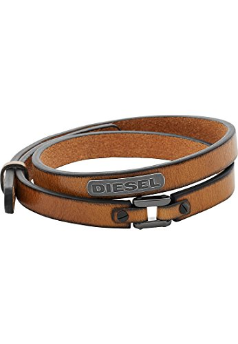 Diesel Herren-Armband HERREN Leder braun, One Size