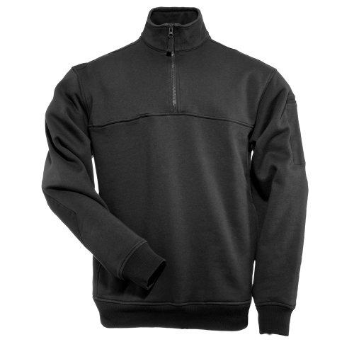 5.11 Tactical Arbeitshemd Job Shirt - 1/4 Reißverschluß Schwarz M (Shirt Reißverschluss-job)