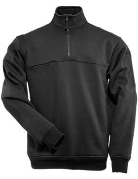 5.11 Uomo 1/4 Zip Job Camicia Nero Taglia Xl