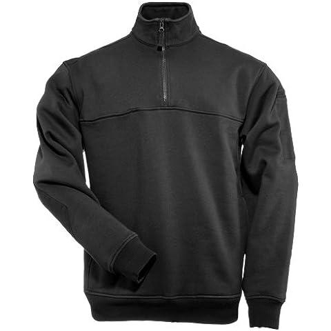 5.11 Uomo 1/4 Zip Job Camicia Nero Taglia L