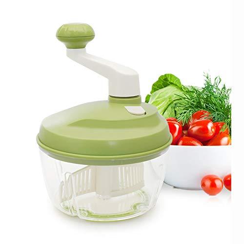 WSNH888 Multifunktionslebensmittelverarbeiter Küche Manuelle Lebensmittel Gemüse Chopper Cutter Mixer Salat Hersteller Eier Stirrer Küche Koch Werkzeuge Mincer Von Kurbelgriff Grün -