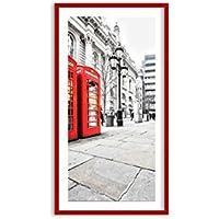 ARTTOR Imagen en un Marco de Madera de Color Rojo - Imagen en un Marco -