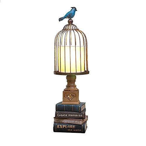 Lampe Schreibtischlampe Leselampe Led-Schreibtisch Lampe Tischlampen Europäische Schlafzimmer Nachtnacht Lampe Vogelkäfig Buch Dekoration Lichter Für Studie Kinder Zimmer Wohnzimmer Lampe -