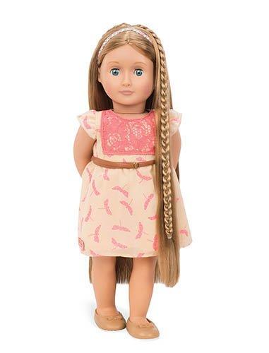 Our Generation BD31073Z - OG - Portia Frisier-Puppe hellbraune Haare, 46 cm