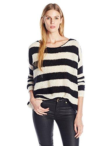 ATM Anthony Thomas Melillo Damen Boat-Neck Drop-Shoulder Striped Sweater - Mehrfarbig - Klein -