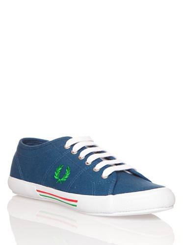Fred Perry Vintage Tennis Canvas Schuh Mitternachtsblau Blau