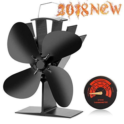 CWLAKON - Estufa con Calor Fan-2018 diseño silencioso Funcionamiento 4 Cuchillas con...