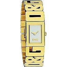 D&G DW0290 - Reloj de Señora movimiento de cuarzo con brazalete metálico blanco