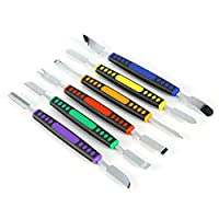 6 Pcs Tools For Opennig All Mobile Covers And Screens, With 12 Diferent Head - Stainless