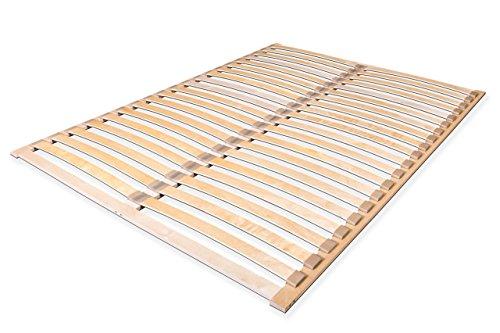 federholzrahmen 180x200 Lattenrost Alti Duo, Lattenrahmen für Alle Matratzen, mit 2x20 stabilen und flexiblen Federholzleisten, zur Selbstmontage (180x200)