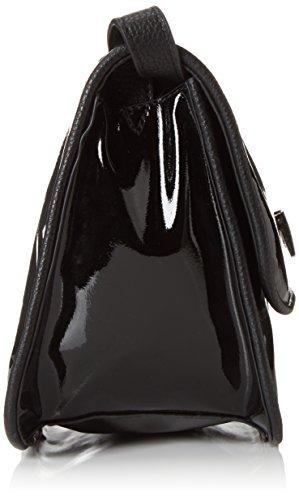 Tamaris Damen Milena Crossbody Bag Umhängetaschen, 26x18x8 cm Schwarz (black comb 098)