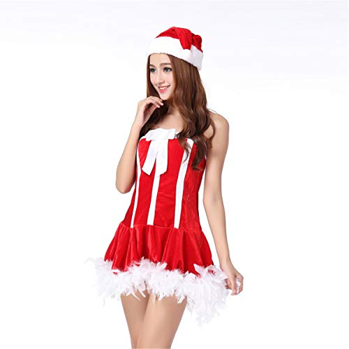 Wäschekorb Kostüm - MAIMOMO Erotische Kostüme Für Damen Reizvolle Wäschekorb-Rolle, Die Weihnachtsuniformversuchungkrankenschwestern Spielt, Rot, Eine Größe