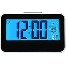 hevoiok Smart reloj LED Digital Fashion LED Snooze Reloj despertador calendario Temperatura hogar cocina oficina dormitorio Silencioso Reloj