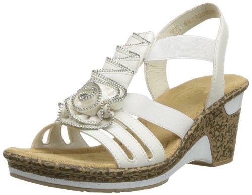 Rieker 60641/80, Sandales Femme Blanc