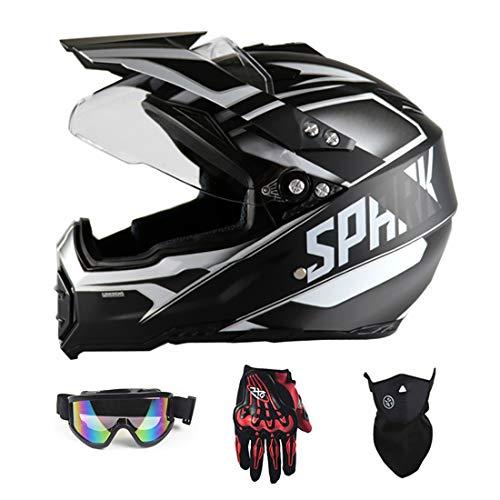 YXNB GRL Casco para Motocicleta, Motocross MX Bike Helmet FMX Enduro Moto...