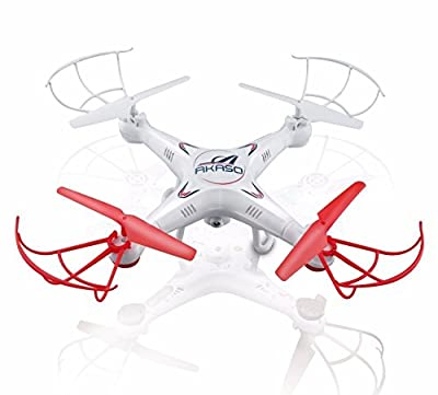 AKASO X5C 4-Channel 2.4-GHz 6-Axis Gyro Headless 360-Degree 3D Rolling Mode RC Drone Quadcopter with HD Camera, Micro SD Card and Blades Propellers by AKASO