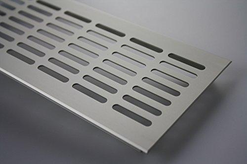 MS Beschläge ® Aluminium Lüftungsgitter Stegblech Heizungsdeckel 100mm x 200mm verschiedene...