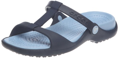 Crocs Cleo III, Sandales femme Bleu (Navy/Light Blue)