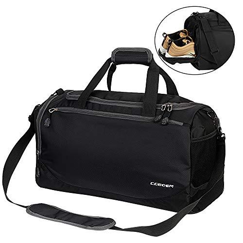 CGBOOM Sporttasche Reisetasche mit Schuhfach und Trinkflaschen-Halter 33 Liter Gym Fitness Sport Tasche Trainingstasche Handgepäck Weekender für Männer und Frauen (Sporttasche Trinkflasche)
