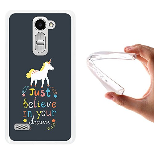 WoowCase LG Ray Hülle, Handyhülle Silikon für [ LG Ray ] Motivierungssatz - Just Belive in Your Dreams Handytasche Handy Cover Case Schutzhülle Flexible TPU - Transparent