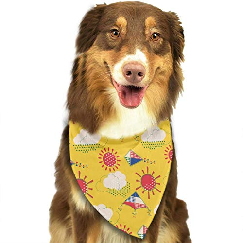 Sdltkhy Kite Pet Bandana Washable Reversible Triangle Bibs Scarf - Kerchief for Small/Medium/Large Dogs & Cats -