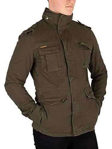 Superdry Hombre Rookie Heavy Weather Field Jacket, Verde, Large