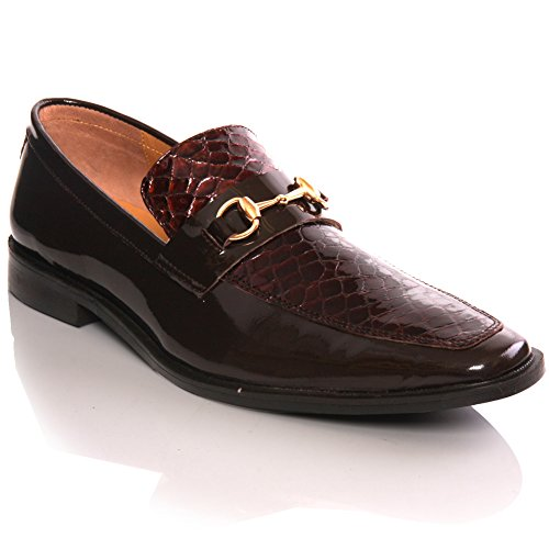 Unze Slipons de Durby ' Nouveaux Mens espagnol Cuir Designer de mode, chaussures de robe formelle Brun