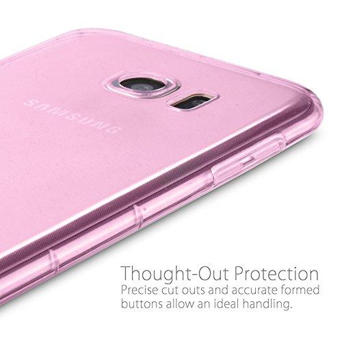 MyGadget PC Plastik Hülle für - Samsung Galaxy S7 Edge - ultra dünn & leicht (0,8 mm / 6 gr.) harter Bumper Schutzhülle Cover Case Anti Kratz Schutz in Schwarz Crystal Case Rosa