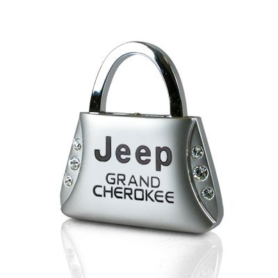 Jeep Grand Cherokee Clear Crystals Purse Shape Key Chain