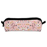 Nurse Print Pink Pen Bag Makeup Pouch Zipper Box Office Organizer Bag Pencil Case