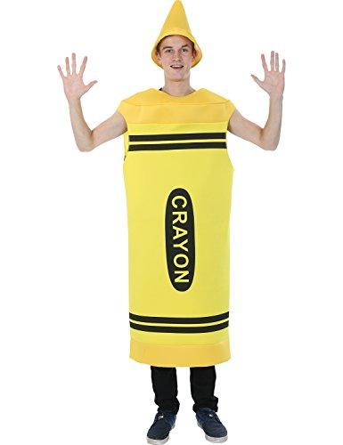 Herren Gelb Kreide Färbung Color Gruppe Junggesellenabschied (Kostüme Crayola Crayon Erwachsene)