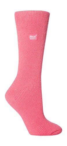Heat Holders - Damen Warme Streifen Winter Thermosocken Socken Bunte Muster 37-42 eur (Mid Pink) (Hoch Damen-socken)