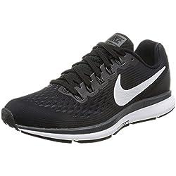 Nike Air Zoom Pegasus 34, Chaussures de Running Femme, Noir (Noir/Gris Foncé/Anthracite/Blanc), 39 EU