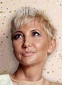 Alandra Cumpleaños TIARA-40 40 cumpleaños Oro Rosa metálico Caja de Regalo Tiara, Crema y Rosa Plata, Talla única