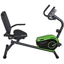 Heimtrainer Fahrrad sitzend mit Rückenlehne Ergometer Liegeergometer Modell F180