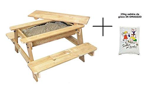 Anself Sabbiera Quadrata in legno